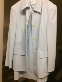 Pale blue skirt suit by Gerry Weber - worn once Size 16