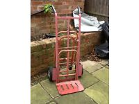 Old hand truck trolley barrow multi function cart ideal for garden garage or around the allotment