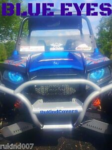 Polaris-Ranger-RZR-800-900XP-BLUE-EYES-HeadLight-Covers-New-Item