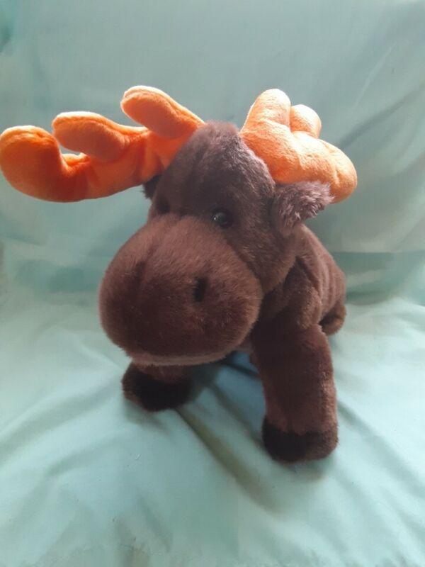 Ty Original Beanie Buddy Chocolate Moose Large Plush/Stuffed Animal 1999