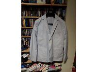 Charles Tyrwhitt white & blue striped 2-button blazer