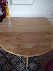 Space saving table and chairs