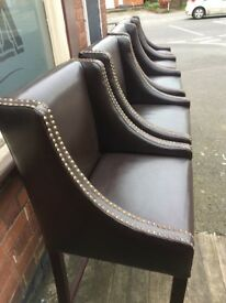 Leather ( faux ) Bar Stools x5