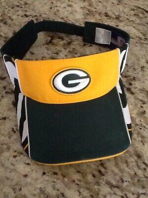 Green Bay Packers Visor Hat Reebok NFL Adjustable Band Nfl Reebok Visor Hat