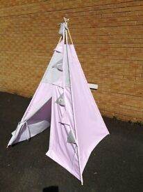 handmade, large teepee play tent for kids, choice of fabric