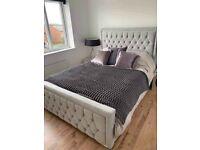 🔥🔥PREMIUM QUALITY🔥🔥 BRAND NEW PLUSH VELVET FABRIC HEAVEN DOUBLE BED FRAME GREY COLOR