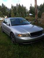 1998 2.8l manual audi a4 for part out or fixer upper