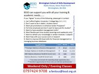 Weekend and Evening Classes for HND Diploma in Business Management & Dip in Healthcare Management