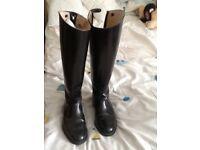 Regent Black Leather Show Riding Boots size 6 (39)