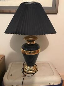 Extremely Large Blue Table Lamp Shade