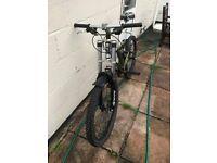 "Mountain bike, full suspension MTB, custom rebuilt DB FS02, air shock, hydraulic brakes, 26"" wheels"