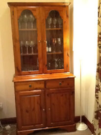 Ducal Display Cabinet and 8 place Dining Table and 6 chairs.