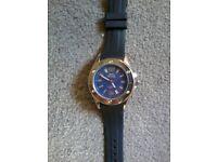 Blue faced Slazenger watch