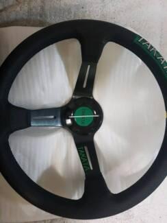 Takata 350mm deep dished steering wheel