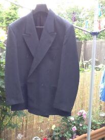 Men's blue suit with a grey stripe 42 chest & 36 reg waist £10