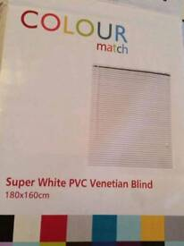 White venetian blind