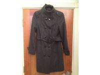 WOMAN'S MILITARY STYLE COAT GREY - SIZE 10