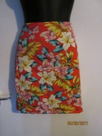 SUMMER PATTERNED STRETCHY SKIRT SIZE 14 BY NEW LOOK BRAND NEW WITH TAGS