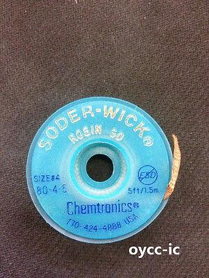 1 Roll 80-4-5 W 4mm Chemtronics Desoldering Wick Soder-wick Chemtronics Usa