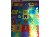 Lovely soft alphabet and numbers floor puzzle mat