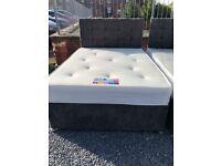 Brand new** Velvet charcoal double divan set ONLY £250