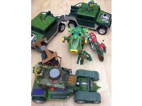 Collection of Teenage Turtle Toys