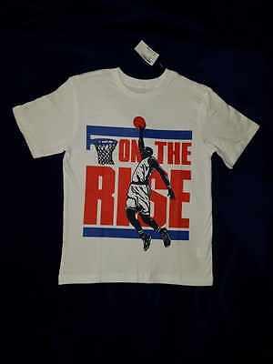 Boys T-Shirt-Size 7/8-Basketball Theme-NWT-Really Cool!
