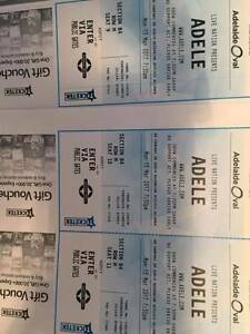 3x Tickets Adele in Adelaide for sale Joslin Norwood Area Preview