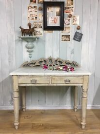 Vintage hand-painted wash stand