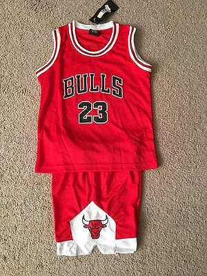 Michael Jordan  23 Chicago Bulls Red Jersey Shorts Set Kids Xxxs   Xxl