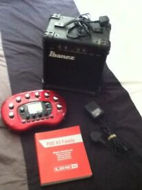 Line 6 Pod X3 Guitar Effects Modeller/Processor With Ibanez Practice Amp Bundle