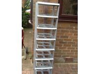 Plastic shelves to clear £3