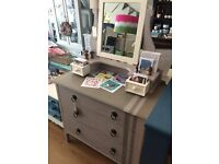 Painted Chest of Drawers and Dressing Table Mirror (Can be Sold Separately)