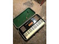 Harmonium keyboard.
