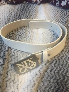 brand new white nixon belt
