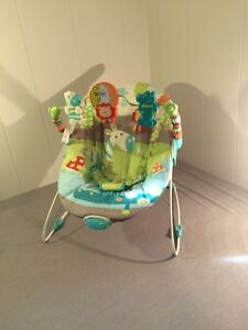 Bouncy vibrating baby seat