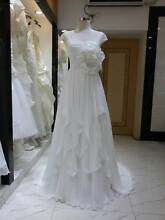 Wedding Dress Chiffon Sweetheart Ruched Empire Bodice A-Line Lace Dale Beverley Area Preview