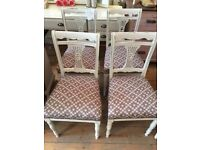 Lovely set of 4 Reupholstered Dining CHAIRS.