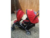 Gracco double pushchair