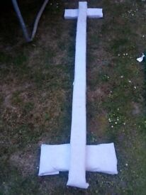8ft balance beam wooden covered with white fabric home made 8ft