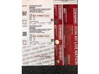 2 x Eminem tickets Sunday 15th july