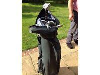 Golf clubs set and bag