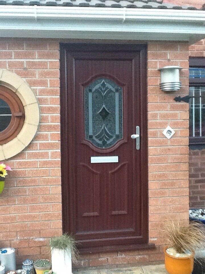 Rehau Woodgrain Upvc Front Door In Liverpool Merseyside