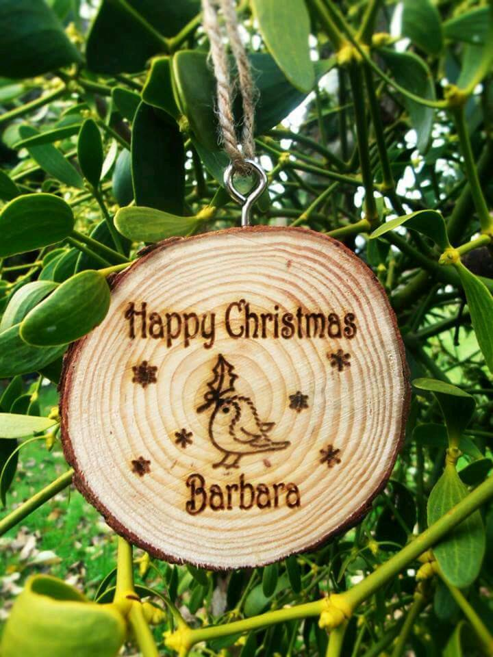 Personalised hand made Christmas tree decorations perfect gifts