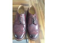 Mens brown leather brogue shoes size 10