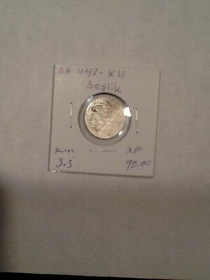 Turkey Ottoman Coin Sultan Mahmud.I. Ah-1143-XII   Beslik