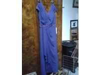 Lovely purple dress and jacket, new with tags, great Christmas party dress.