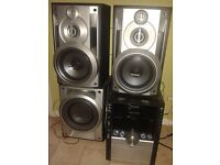 £100.440 w. usp,music port,mp3,5 disc changer,very good bass! i dont have control remote.£10 for new