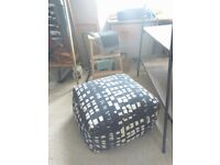 Navy Pouffe from Made
