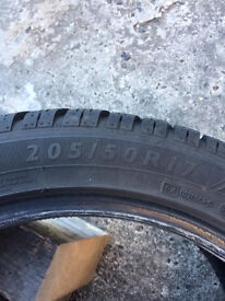 205/50/17 Dunlop Sport 3D Winter Tyres x4 - Reduced for quick sale